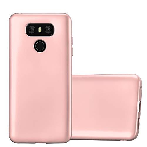 Cadorabo Custodia per LG G6 in ORO ROSA METALLICO - Morbida Cover Protettiva Sottile di Silicone TPU con Bordo Protezione - Ultra Slim Case Antiurto Gel Back Bumper Guscio
