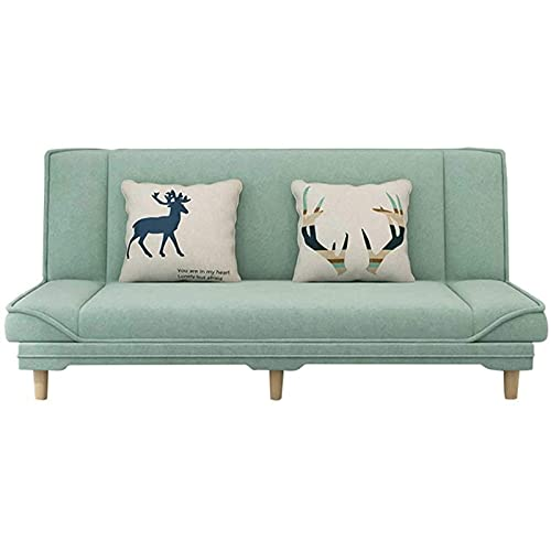 HMBB Moderna Tela 3 Asiento sofá Cama sofá sofá con los Brazos y 2 Cojines Suaves Gris (Verde) (Size : 1.5m/59in)