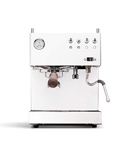 Ascaso Steel PID Programmable Espresso Machine w/Volumetric Controls, Dual Thermoblock,120V (DUAL, WHITE)