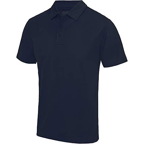 Polo sport uni Just Cool pour homme (S) (Bleu marine)