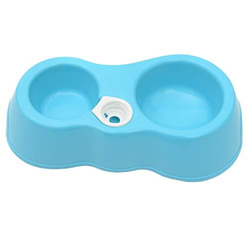 CGxl Een hond kattenvoer schotel + Drinkwater Double Bowls met automatische Automaat van het water (Blauw) (Color : Blue)