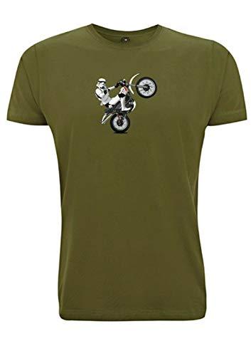 Time 4 Tee Yamaha XT 500 T-Shirt Stormtrooper Classic Scrambler 1970er Jahre Adventure UK Geschenk für Vater, Ehemann, Bruder, Freund Gr. XL, armee-grün