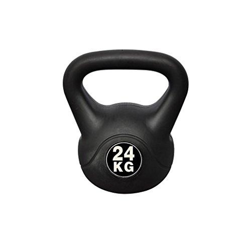 vidaXL Pesa Rusa de 24 kg Negra Kettlebell Musculación Fitness Ejercicio