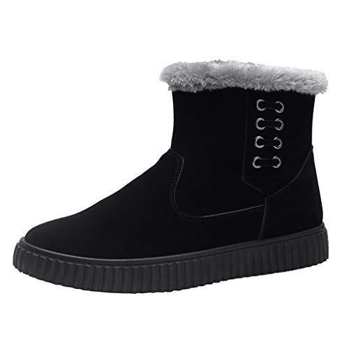 Hotopick laarzen heren, winter mode plus fluweel casual Engeland platte zool sneeuwschoenen heren laarzen zwart, outdoor suède laarzen heren, herfst winter herenlaarzen