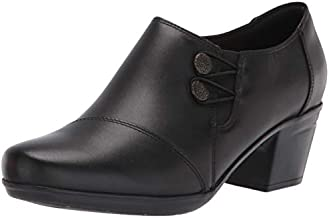 Clarks Women's Emslie Warren Slip-on Loafer,Black Leather,12 M US