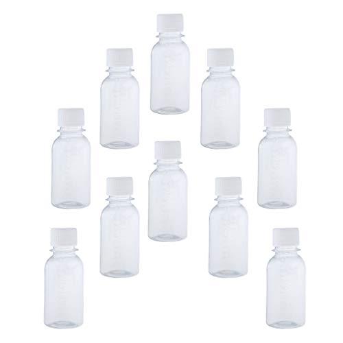 SDENSHI Lot de 10pcs Bouteilles de Voyage en Plastique Transparente avec Echelle pour Cosmetiques - 100 ml