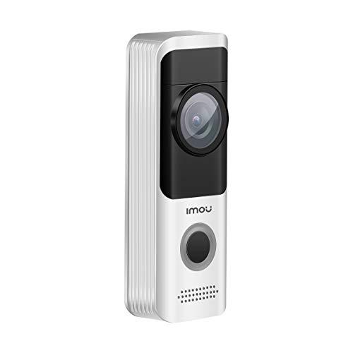 Videoportero con batería imou, videoportero wifi 1080P Full HD, videoportero para exteriores inteligente sin cables con IP65, detección de movimiento PIR, audio bidireccional y visión nocturna