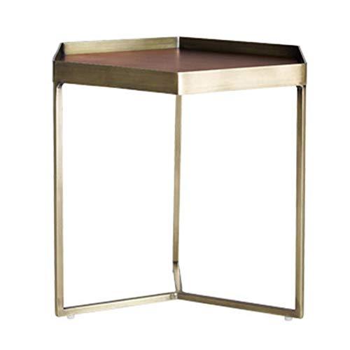 Axdwfd bijzettafel Hexagon salontafel, metalen bank bijzettafel, waterdicht, roestvast, gebruikt in woonkamer, slaapkamer
