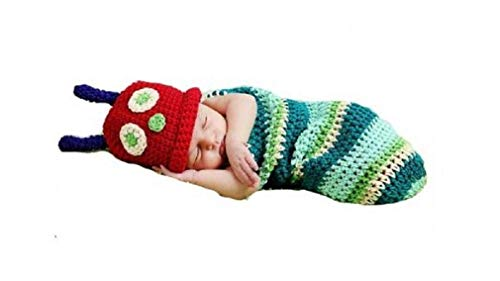 Caterpillar, Newborn Baby Girl/Boy Crochet Knit Costume Photo Photography Prop Hats Outfits