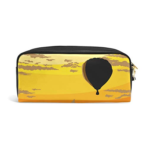 Hot Air Baloon Background Student Pencil Pencil Pencil Pouch Pouch Storage Pouch Bag Organizer creativo Cosmetic Bag Gift Office School Supplies for College Girl Adult