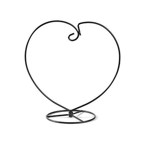 Yemiany terrario plantas de aire,Estante colgante de hierro,2PCS Marco de hierro en forma de corazón Maceta de pared Soporte de planta de aire Soporte de maceta Soporte de hierro Pothook Soporte