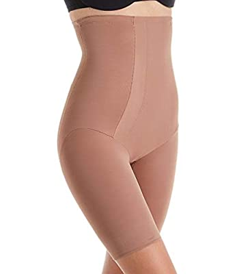 Miraclesuit Shapewear Extra Firm Shape with an Edge Hi-Waist Long Leg Cocoa SM