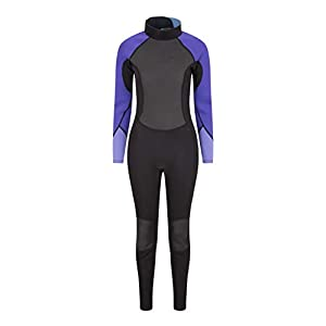 Mountain Warehouse Womens Full Wetsuit – Contour Fit, Adjustable Neck Swimming Wet Suit, Retains Body Heat Ladies One Piece Wetsuit, Easy Glide Zip - for Surfing