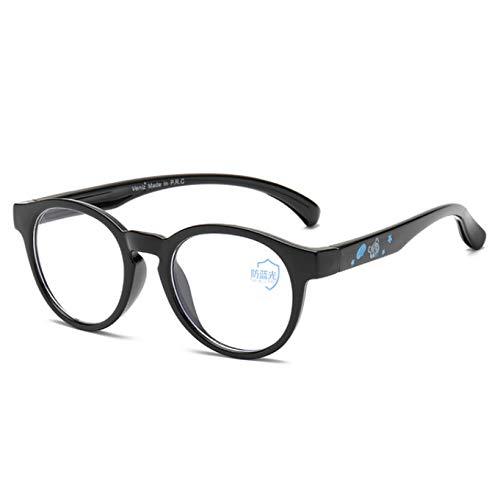 Anti-Straling Bril, Platte Spiegel Voor Kinderen, Anti-Bijziendheid Bril Voor Baby, Computer Leesbril Met Blauwe Lenzen Voor Kinderen Van 3 Tot 15 Jaar Oud, Zwart