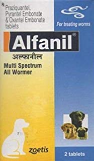 Zoetis Alfanil Dewormer for Dogs by Jolly and Cutie Pets (Pack of 6)