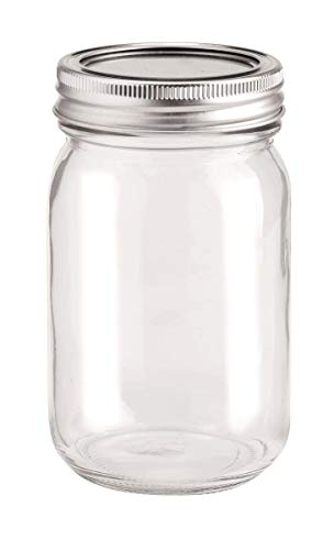 GLOREX Glas mit 2-Tlg Deckel, Transparent, 6.5 x 6.5 x 13.5 cm
