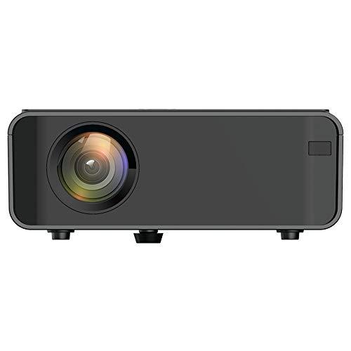 Proyector portátil, 4K HD 1080P LED, WiFi Bluetooth, TV Video Cine en casa Cine Cine Proyector inteligente, HDMI, VGA, USB dual, AV, para computadora portátil, teléfono inteligente, para Android(EU)