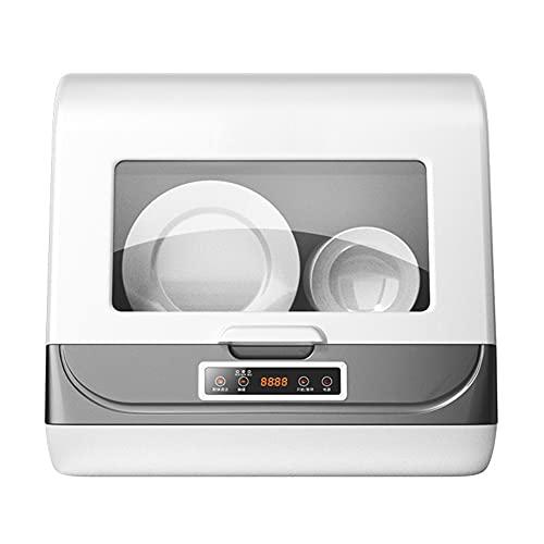DGDD Mini Lavavajillas - Lavavajillas Compacto Mesa 45cm Lavaplatos Portátil sobre Encimera 3 Programas, Control Inteligente, Pantalla LED, Desinfección 360 ° Limpieza Hogar, Apartamento,Blanco