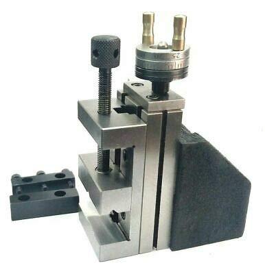 Tool Post Mini Slide vertical con tornillo de acero de 50 mm, fresado instantáneo para...