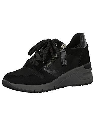 Tamaris Damen Sneaker 1-1-23702-25 098 schwarz, grau normal Größe: 41 EU