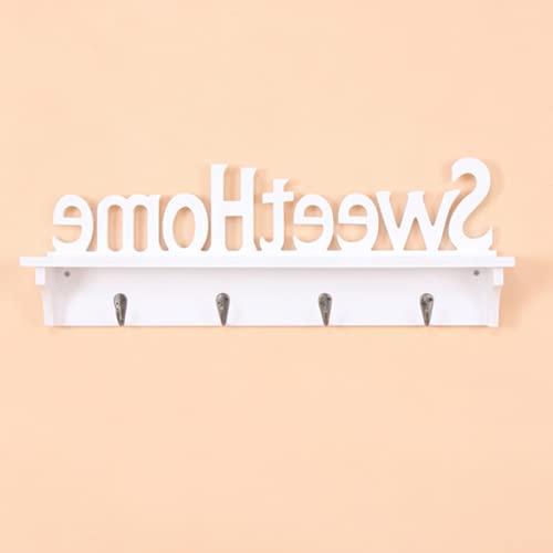 Appendiabiti da parete, portasciugamani in materiale PVC, portasciugamani con ganci Decorazione domestica per soggiorno bagno