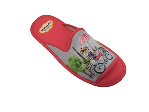Zapatillas de Estar por casa/Mujer/Biorelax/Primavera/Verano/Multicolor/Puntera Abierta/con Cámara de Aire/Talla 39
