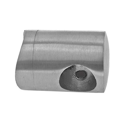 Edelstahl Geländer Querstabhalter Verbinder Kappen Winkel V2A für 12mm Querstäbe, Modell:QT12 Querstabhalter