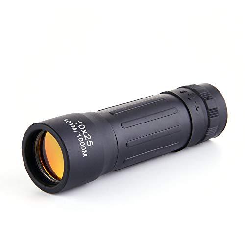 Yqs Prismáticos 10x25 Mini Bolsillo telescopio monocular Zoom de Teatro Prismáticos Ocular Portable for la Caza Que acampa Compacto Telescopio Rifle (Color : 10x25)