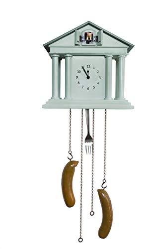 """Wanduhr """"Ich glaub, mein Schwein pfeift!"""" • die Schweine Uhr von Michael Sowa • Pendeluhr Kuckucksuhr Tempeluhr • 25 x 24 x 12,5 cm (ohne Pendel) • Qualitätsquarzwerk • Gehäuse handmade"""