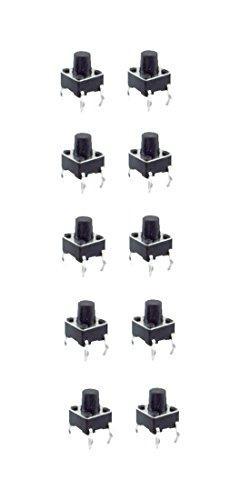 B2Q Minitaster Drucktaster Microtaster Taster 6x6x4,3mm 1xÖffner 10 Stück (0066)