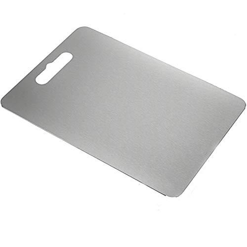 LANJ 304 Tabla De Cortar De Acero Inoxidable Tabla De Cortar Anti-Moho Anti-óXido FáCil De Limpiar VersióN De Corte De Carne Tabla De Corte De ClasificacióN MultifuncióN