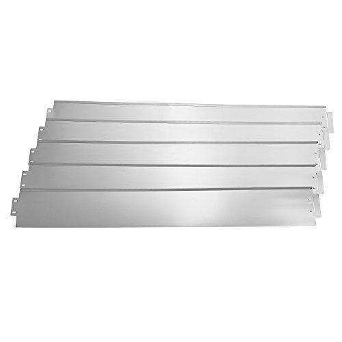 casa.pro] Borde limitador de jardín - Borduras de jardín - Set de 5 Piezas - Color Plata - Acero galvanizado