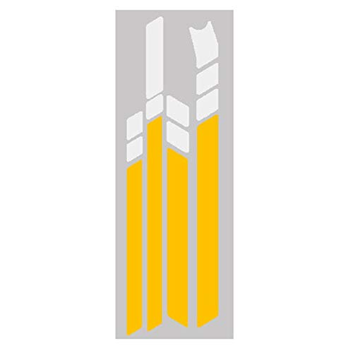Gesh Pegatinas reflectantes impermeables de PVC para MAX G30 Kickscooter plegables (blanco, amarillo, blanco)