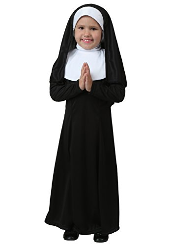 Toddler Nun Costume Girl's Nun Outfit for Toddlers 12 Months Black