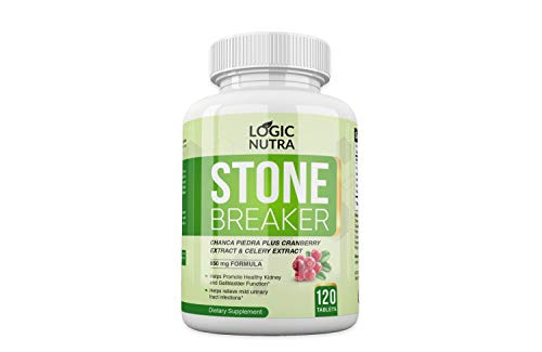 Chanca Piedra Kidney Stone Breaker by Logic Nutra 120 Tablets 800 mg Each Maximum Strength for Gallbladder Cleanse Urinary Pain Relief
