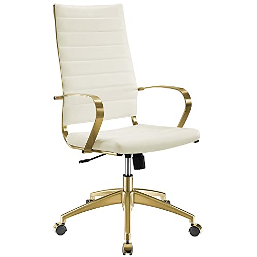 Modway Jive Gold Managerial Tall Office Chair
