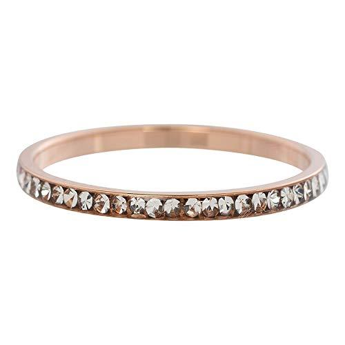 iXXXi Füllring ZIRKONIA KRISTALL rosé weiß - 2 mm Größe Ringgröße 18