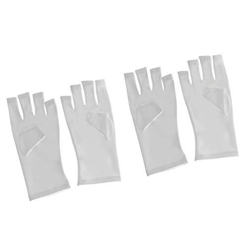 SaniMomo Weiche Anti UV Hand Strahlenschutzhandschuhe Für Gel Polish LED Lampe 4St