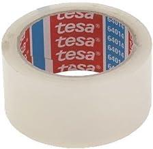 Tesa 64014 PP plakband, verpakkingstape, pakkettape, rustig afrollend, transparant, 12 rollen