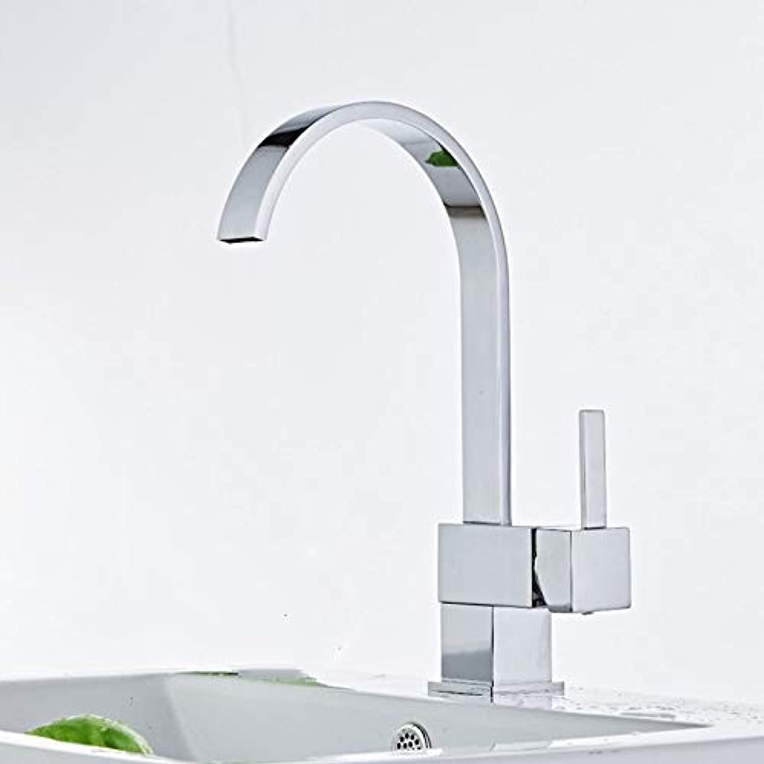 redOOY Kitchen sink full copper kitchen faucet, hot and cold water faucet, single hole hot and cold sink faucet