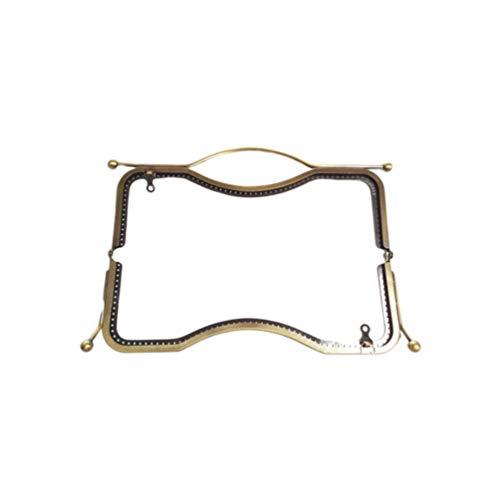 SUPVOX Metal Frame Kiss Clasp Retro Purse Coin Bag Frame for Bag Purse Making DIY Craft 19cm