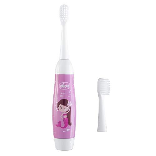 Chicco - Cepillo de dientes eléctrico infantil para niños, con vibración y...