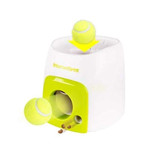 WiseWater Automatic Tennis Ball Launcher Dog Toy Dog Feeder Food Reward Machine Pet Toy Authentic Tennis Ball Thrower  Interactive Toy for Dogs to Play and Train