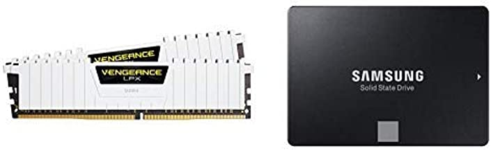 Corsair Vengeance LPX 16GB (2x8GB) DDR4 DRAM 3000MHz C15 Desktop Memory Kit - White w/Samsung 860 EVO 500GB 2.5 Inch SATA III Internal SSD