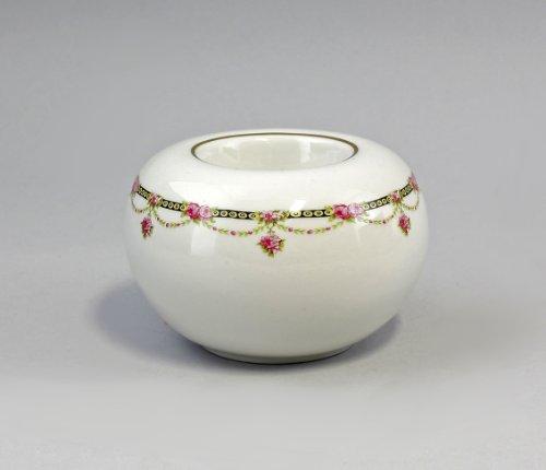 Porzellan Kugel-Vase für Teelicht Limoges-Kante H 6,5 cm