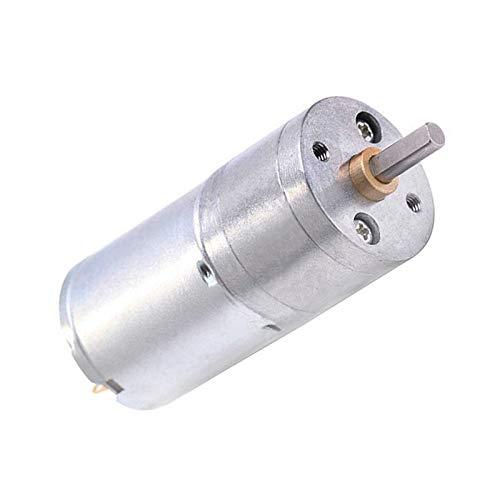 F-MINGNIAN-TOOL, 1pc JGA25-370 DC Motor Motorreductor 6V 12V Alta par eléctrico del...