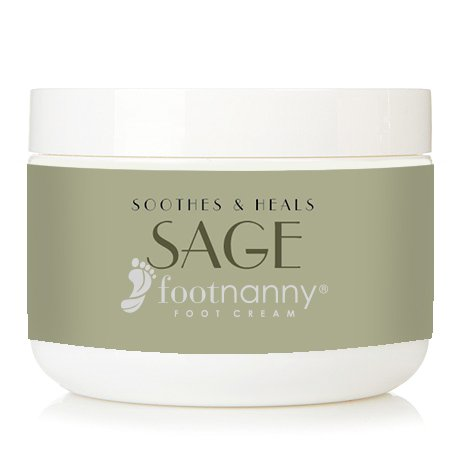 Footnanny - Sage/Lemon Foot Cream - Soothes Cracked Heels and Dead Skin with an Old Fashion, Invigorating Formula