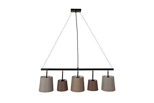 DuNord Design Hängelampe Pendellampe 100cm grau braun beige Esstischlampe Esszimmer Lampe Leuchte ALICANTE