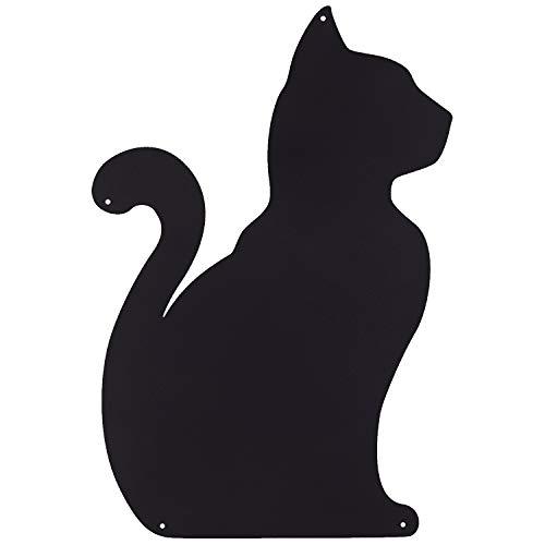 Kalamitica Katze-Design magnetische Kreidetafel aus Stahl. Größe 56x38x0,12cm. Farbe: Anthrazit.