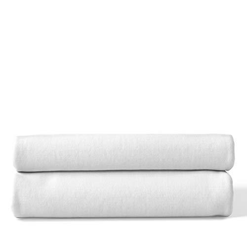Mullwindeln | Spucktücher - 2er Pack | 80x80 cm - 2 weiß | Schadstoffgeprüft - Oeko-Tex Standard 100 | kochfest bei 95° C | Moltontücher | Baumwolltücher | Mulltücher | Stoffwindeln